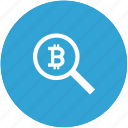 bitcoin, find, money, search, transfer icon