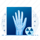 gesture, hand, healthcare, hospital, medical, xray icon