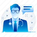 chat, doctor, health, hospital, medical, support, surgeon icon