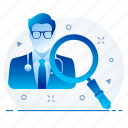 doctor, health, healthcare, hospital, medical, search, surgeon icon
