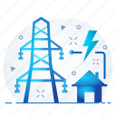 battery, electricity, energy, grid, power icon