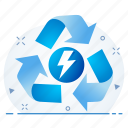 ecology, recycle, rotate, trash icon