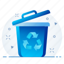 bin, delete, dustbin, remove, trash icon