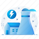 battery, ecology, energy, factory, power icon