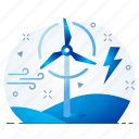 power, wind icon