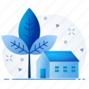 apartment, eco, ecology, farm, friendly, green, house icon
