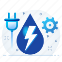 battery, ecology, electricity, energy, power icon