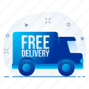 delivery, free, logistic, shipping, transportation, truck icon