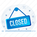 closed, market, shop, store, shopping icon