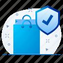 antivirus, bag, baggage, shopping, eco, friendly icon