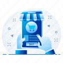 ecommerce, mobile, shop, shopping, smartphone icon