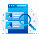 details, product, search, view icon