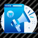 advertising, broadcast, marketing, promotion icon