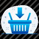 basket, cart, item, items, shopping icon