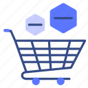 bag, basket, buy, cart, remove, shop, shopping