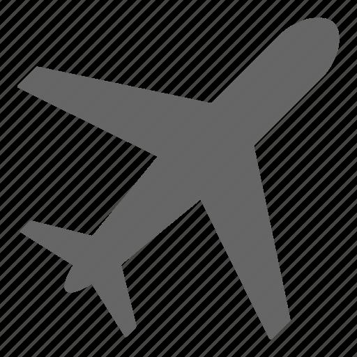 air plane, airplane, flight, plane, transport, transportation, travel icon