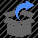 arrow, box, cargo, logistics, shipping, direction
