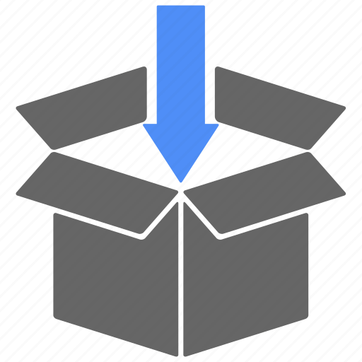 arrow, box, direction, gift, logistics, shipping icon