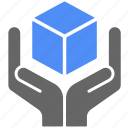 box, care, delivery, hand, logistics, shipping, transport icon