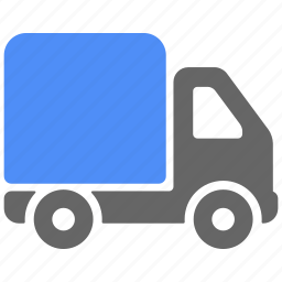 blue, delivery, logistics, shipping, truck icon