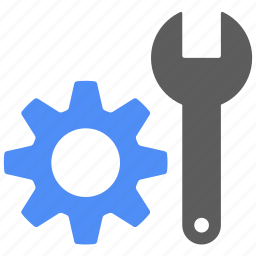 configuration, gear, repair, setting, tool, wrench icon