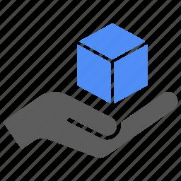 box, care, delivery, hand, logistics, shipping icon