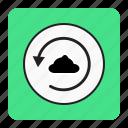 backup, bg, blue, save icon