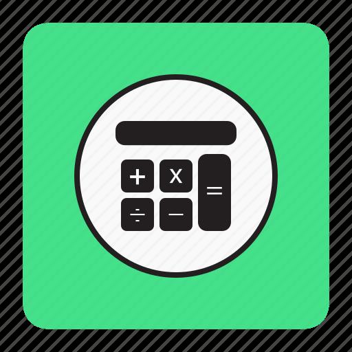 bg, blue, calculator icon