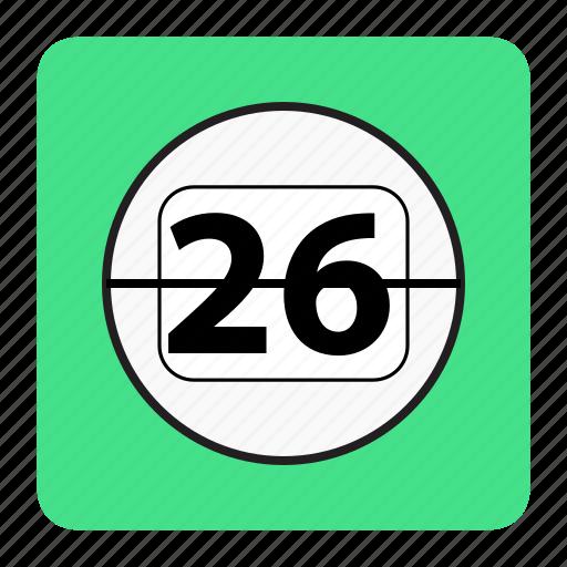bg, blue, calendar icon