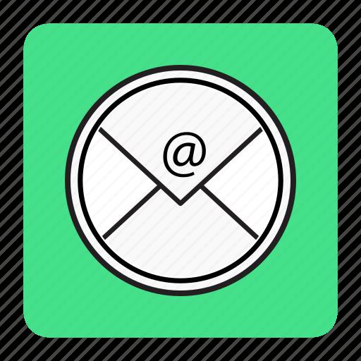 bg, blue, email icon
