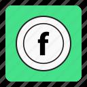 bg, blue, facebook, massager icon