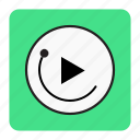 bg, blue, music icon