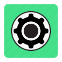 bg, blue, set, setting icon