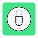 bg, blue, rec, voice icon