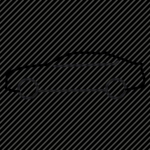 4 series, bmw, car, line icon, sedan, suv, transport, vehicle icon