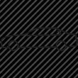 5 series, bmw, car, line icon, sedan, transport, vehicle icon