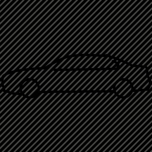 bmw, car, line icon, m5, sedan, transport, vehicle icon
