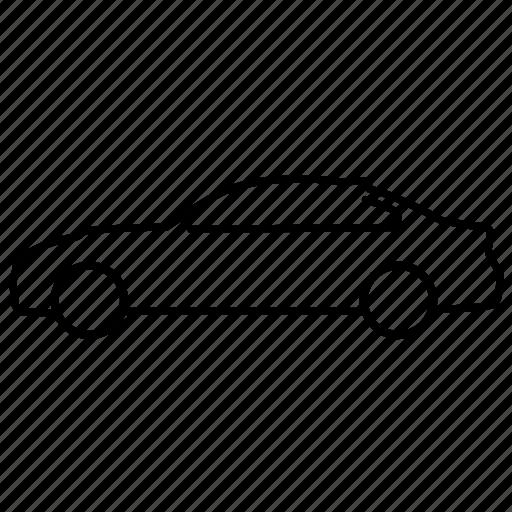 bmw, car, line icon, m3, transport, vehicle icon