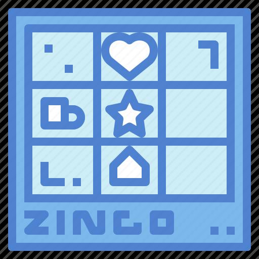 board, entertainment, gambling, zingo icon