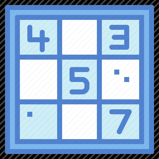game, hobbies, numbers, sudoku icon