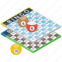 bingo, casino, gambling, housie, lottery game, tombola icon
