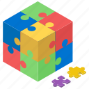 jigsaw, jigsaw puzzle, mind game, puzzle, puzzle piece, tiling puzzle icon
