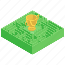 challenge, complex, entanglement, labyrinth, maze, strategy icon