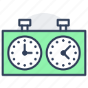 chess, piece, game, board, clock