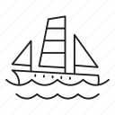 sailboat, vessel, nautical, boat, travel