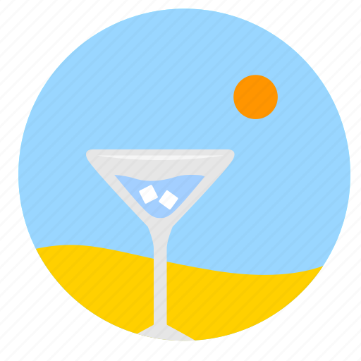 beach, bocal, cocktail, desert, dishes, drink, wineglass icon