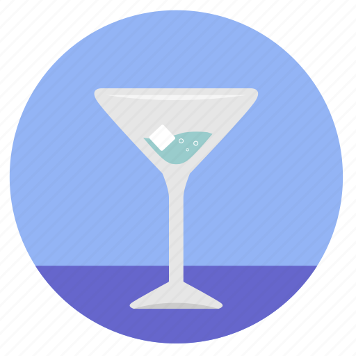 alcohol, bocal, dishes, drink, gin, ice, wineglass icon
