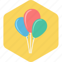 baby, balloon, infant, party, toddler icon