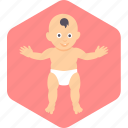 baby, face, happy, stand, toddler icon