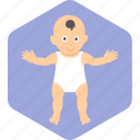 baby, face, happy, play, stand, toddler icon